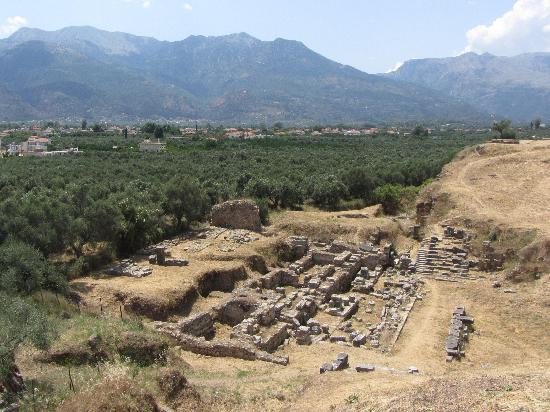 Σπάρτη, Ελλάδα: Sparta seen from the old acropolis