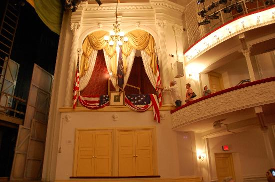 Ford's Theatre: The box in which Lincoln was assassinated.