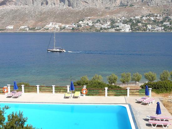 Telendos, Greece: Afternoon view towards Kalymnos