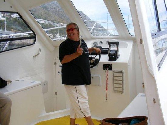 "Sharklady Adventures: Kim ""Shark Lady"" Maclean at the helm"