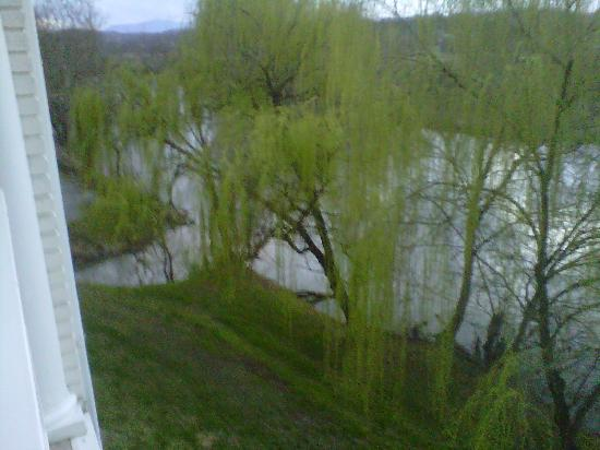 Clarion Inn Willow River: View of the river from our room