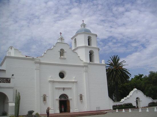 Oceanside, Kalifornien: The Front of the Mission