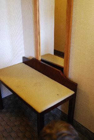 Quality Inn & Suites Bensalem: Stains on the bench.