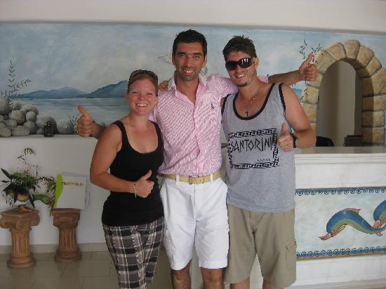 Paradise View Hotel: My husband and I with George, hotel owner