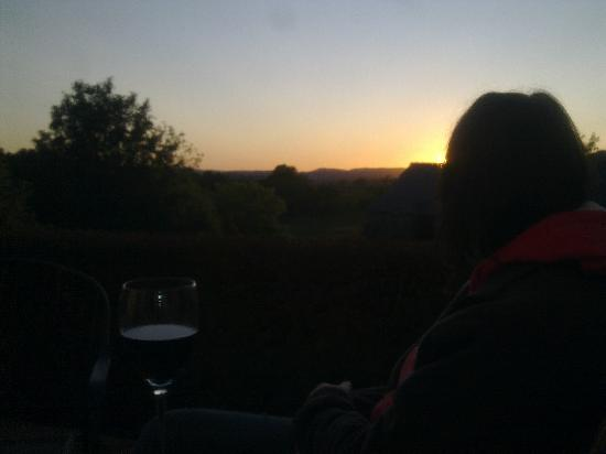 Great Trewern Bed and Breakfast: The sunset as we enjoyed dinner