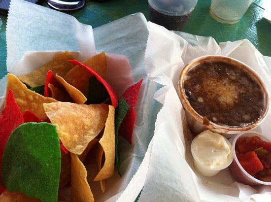 Schooner Wharf Bar: Mexican bean dip