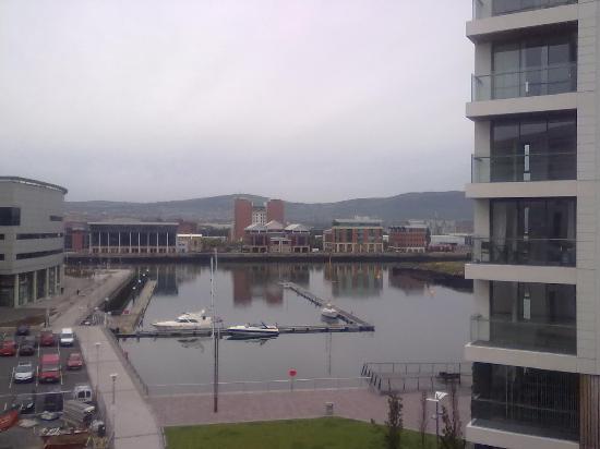 Premier Inn Belfast Titanic Quarter Hotel: View from our room