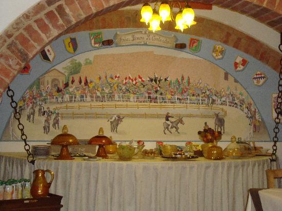 Antica Dimora Le Contrade: Breakfast Buffet table