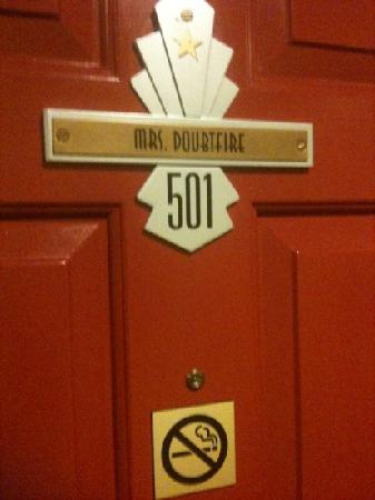 Hotel Bijou: room door