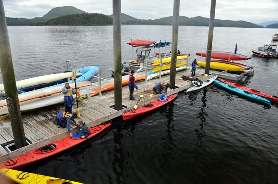 Southeast Exposure Outdoor Adventure Center: Private dock for Eagle Island tour and Kayak rentals.