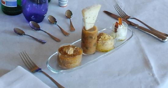 Trattoria Verdiana: € 110 per 4 di questi pseudo piatti