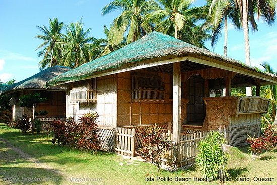 Polillo Island, Philippinen: Our non-air conditioned kubo (hut)