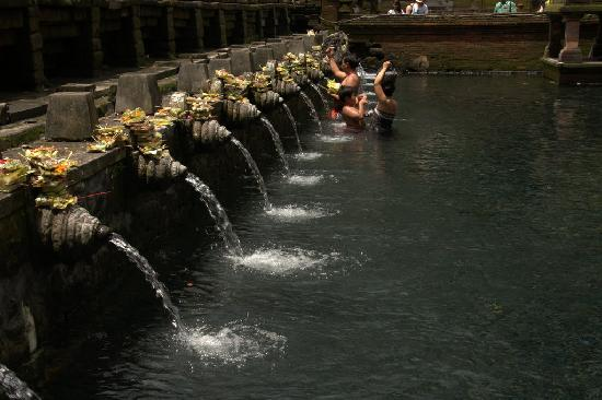Tampaksiring, Indonesia: Purification pools