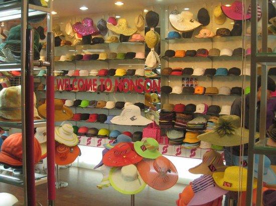 Hang Gai Street (Street of Hemp) : Hat shop in Hanoi