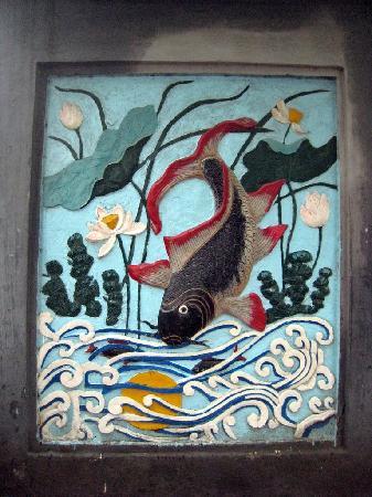 Ngoc Son Temple: Fish mural