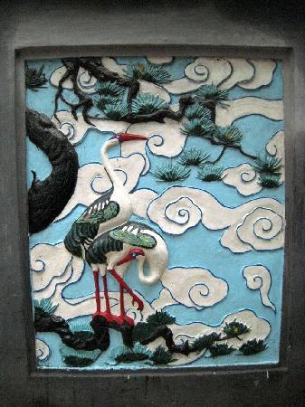 Ngoc Son Temple: Stork mural