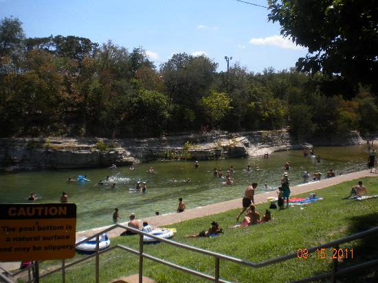 Barton Springs Pool: View of shallow end where floats are allowed