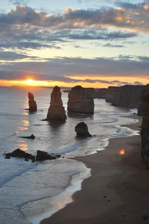 Carretera Great Ocean Road: 12 Apostles at sunset