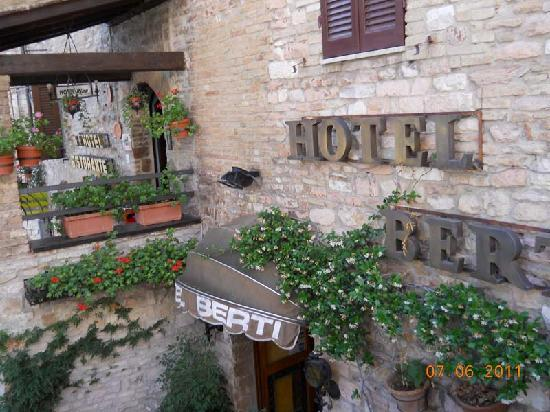 Entrance to Hotel Berti