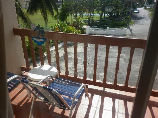 Carib Blue Apartment Hotel: the balcony