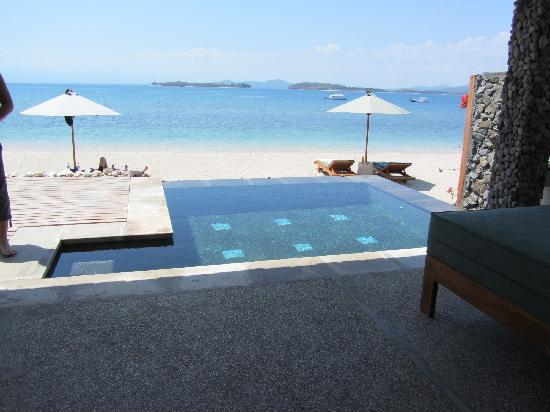 Cocotinos Sekotong, Boutique Beach Resort & Spa: ウォーターエッジ・ヴィラはビーチに面したプライベートプール付き。