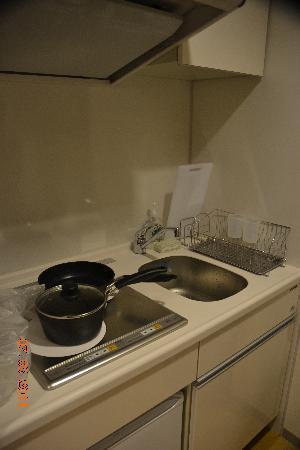 Fraser Residence Nankai Osaka: Fully equiped kitchen