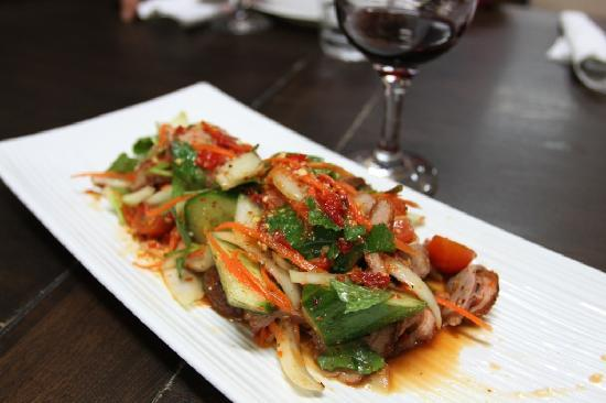 Thai House Takeaway: Roast Duck Salad