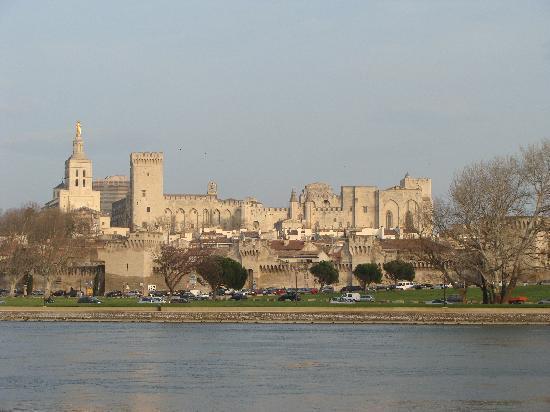 Hostel and Camping Bagatelle : La città di Avignone vista dal camping Bagatelle
