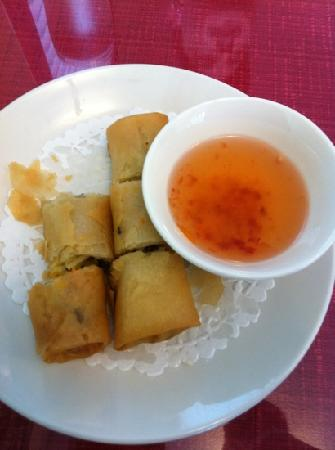 Red Satay Grille Rouge: vegetable springroll!! Delicious!!!