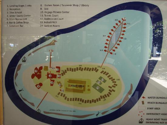Angaga Island Resort: Darstellung der Insel