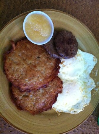 Portobello Diner: potato cakes