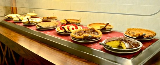 Mountain Gate Family Restaurant: A small portion of the pie selection.