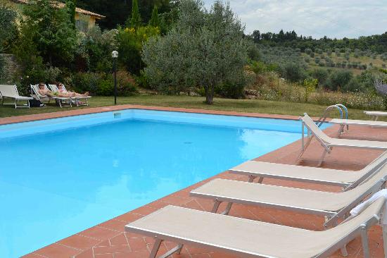La Valle a Polvereto: Float in the pool and gaze out at the vineyards and olive groves!