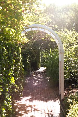 The Wauwinet: The entry to the garden surrounding our cottage