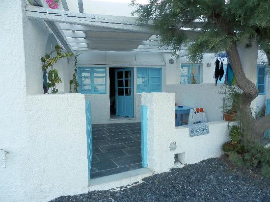 Sigalas Hotel: camera vista dalla spiaggia