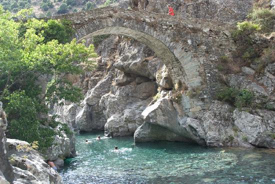 Santa Lucia di Moriani, France : waterfalls