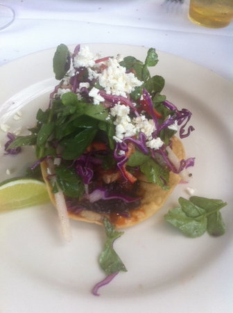 Mustards Grill: Seafood Tostada