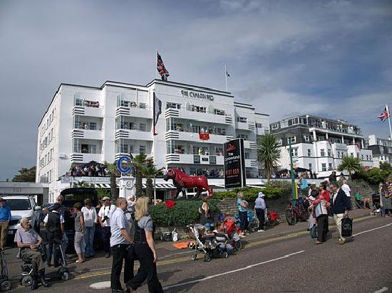 The Cumberland Hotel: Cumberland hotel outside on air show day!