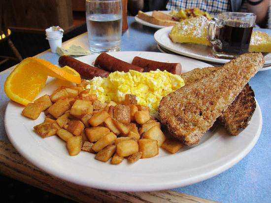 Summit Lake Lodge : This was our complimentary breakfast (we could chose anything off the menu).
