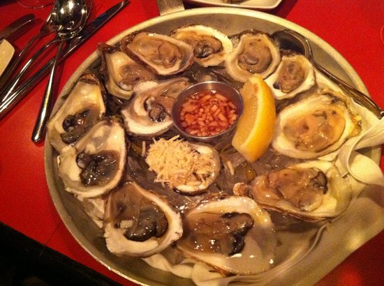 Stone Road Grille: you see oysters, but read..expensive!