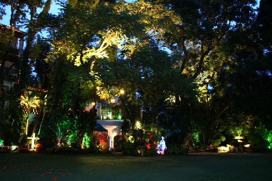 Hotel Boutique Casa de Campo: Dinning under the trees