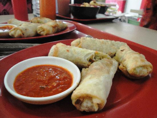 Big Bite Fast Food : Spring Rolls.