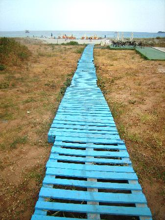 Golden Beach, Grecia: The path to the beach