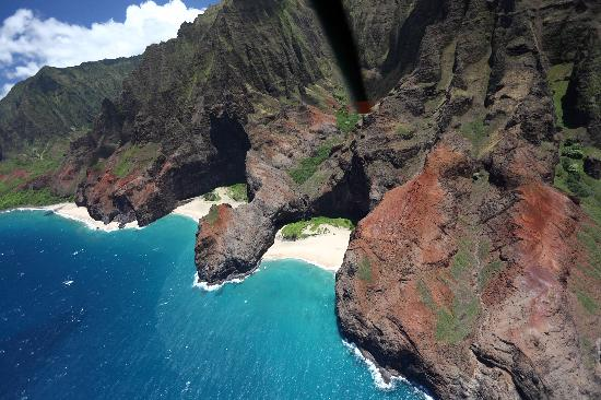 Honopu Beach On The Na Pali Coast Was