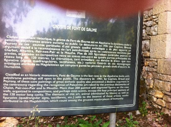 Grotte de Font-de-Gaume : Font de Gaume, site of prehistoric cave art