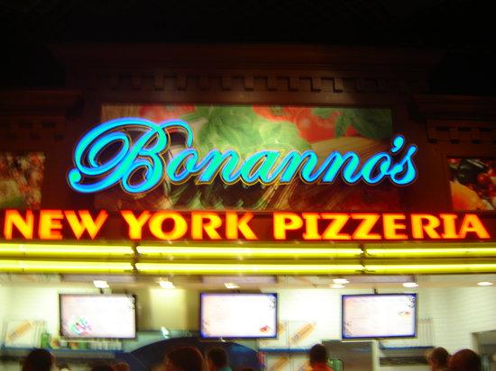 Bonanno's New York Pizzeria: The sign