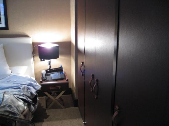 The Chatwal, A Luxury Collection Hotel, New York: bed and closet