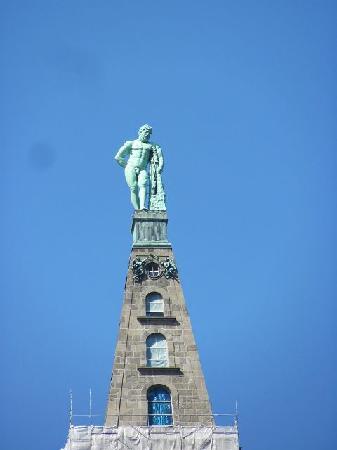 Herkules-Statue: das obere Teil