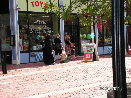 Essex Street Pedestrian Mall: On of the real-life witches we saw shopping