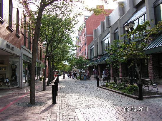 Essex Street Pedestrian Mall: View of the pedestrian mall